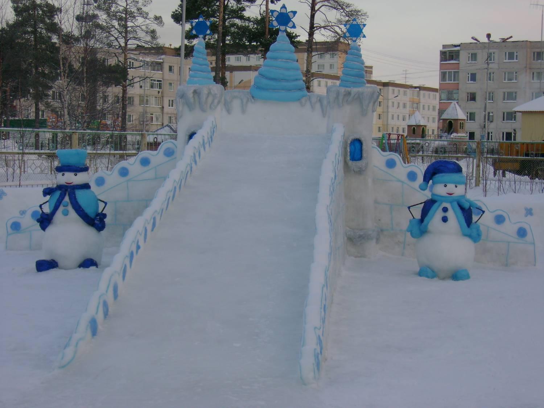 Снежный городок как сделать